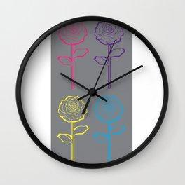 rose pop Wall Clock