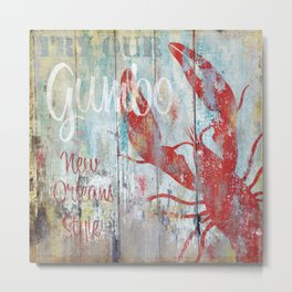 New Orleans Gumbo Sign Metal Print