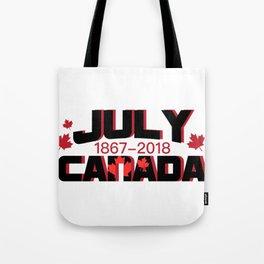Canada Maple Leaf Vintage Retro 151 Years Tote Bag