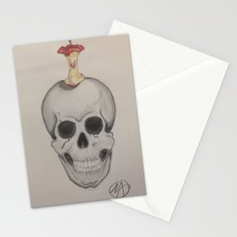 Skull and Apple Stationery Cards