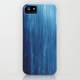 abstract blue rain iPhone Case