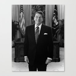 Ronald Reagan In The Oval Office Canvas Print