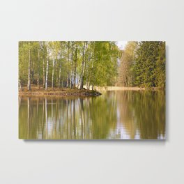 It's almost summer! Reflection Tree Lake #decor #society6 Metal Print