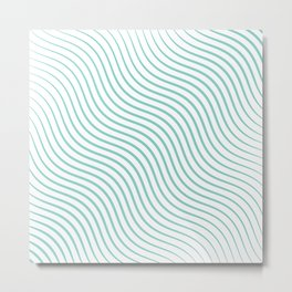 Tirquaz wavy modern lines Metal Print