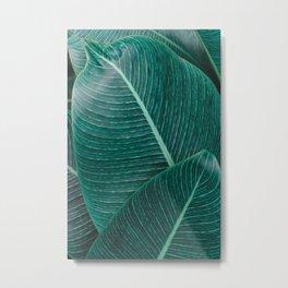 Green Tropical Leaves No1 Metal Print