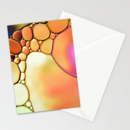 """""""Stained Glass Orbs"""" - Oil and Water Stationery Cards"""