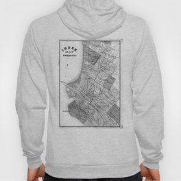 Vintage Map of Oakland California (1878) BW Hoody