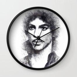 Prince portrait 01 Wall Clock
