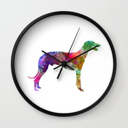 Greyhound in watercolor Wall Clock