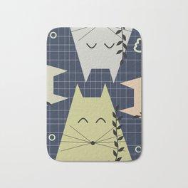 A few happy cats Bath Mat