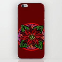 Poinsettia iPhone Skin