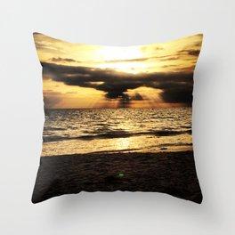 Crepuscular light  Throw Pillow