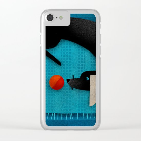 EYE ON THE BALL Clear iPhone Case