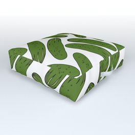 Pickles Green Cucumbers Outdoor Floor Cushion