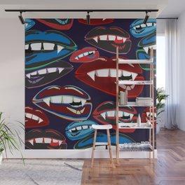 Funky Vampire Lips Wall Mural