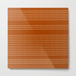 Terracotta, Mudcloth, Boho Wall Art Prints Metal Print