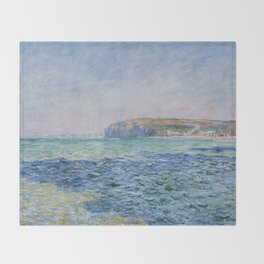Shadows on the Sea at Pourville by Claude Monet Throw Blanket