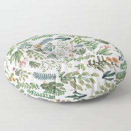 circular new white garden Floor Pillow