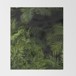 Tropical jungle. Throw Blanket
