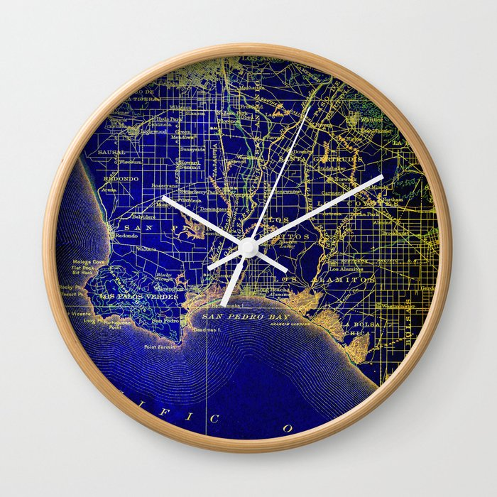 San Pedro Baycaliforniaold Map Year 1904 Us Mapusa Maps Wall - Us-clock-map