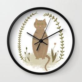 Nature Cat Wall Clock
