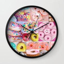 doughnut grid Wall Clock