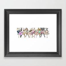 Animal Ballet Hipsters LV Framed Art Print