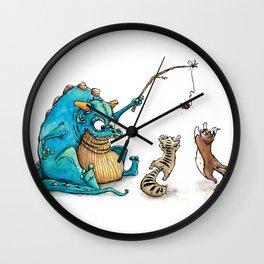 Dragon's do like cats! Wall Clock
