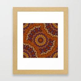 Color Me Autumn Kaleidoscope Mandala  Framed Art Print