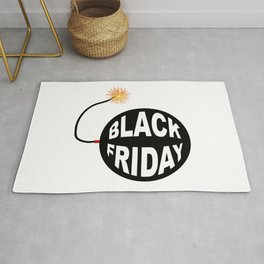 Black Friday Bomb And Lit Fuse Rug