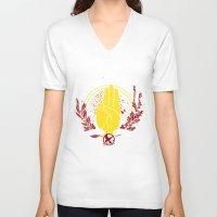 mockingjay V-neck T-shirts featuring The Mockingjay by 126pixels