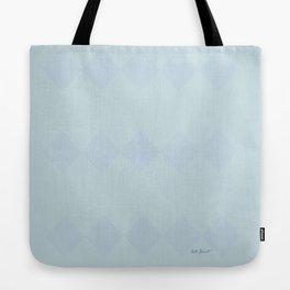 Pale Blue Diamond Design Tote Bag