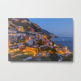 A Serene View of Amalfi Coast in Italy Metal Print