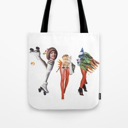 Disco and vegetables Tote Bag