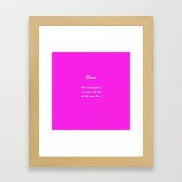 Rule 7 Focus Framed Art Print