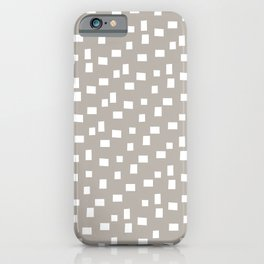 Rectangles 8 | Pattern in Stone and White iPhone Case