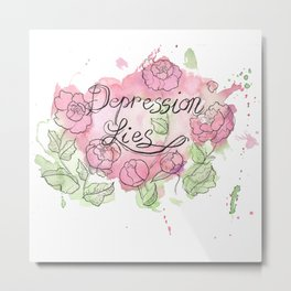 Depression Lies Metal Print