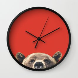 Bear - Red Wall Clock