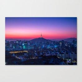 Twilight Seoul Canvas Print