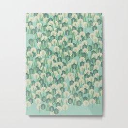 Geometric Woods Metal Print