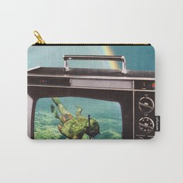 Tune in for more adventure, vintage collage with diving lady Carry-All Pouch