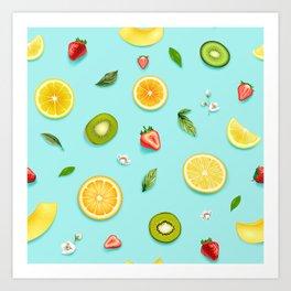 Mixed Fruit 4 Art Print