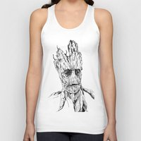 groot Tank Tops featuring Groot by Giorgia Ruggeri