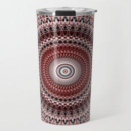 Whirls of Maroon Travel Mug