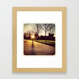 Sunset in Swords Park - Instagram Framed Art Print