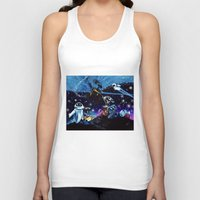 wall e Tank Tops featuring Wall-E Collage by artbywilliam