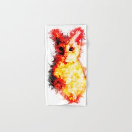 cat 2 abstract ink Hand & Bath Towel