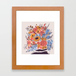 February Florals Framed Art Print