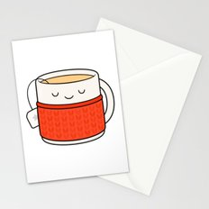 Keep warm, drink tea! Stationery Cards