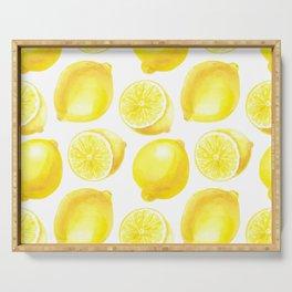 Lemons pattern design Serving Tray
